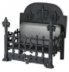 "Langdale with Back Plate 21"" Cast Iron Fire Basket"